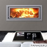 Panadero 101-E - 11kw Contemporary Wood Burning Inset Stove