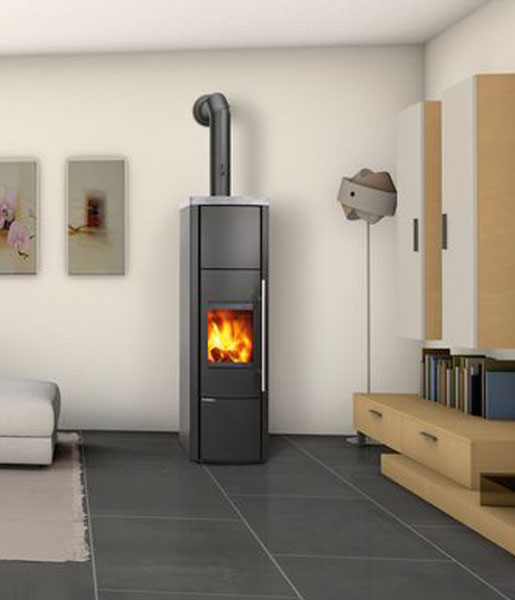 Lohberger Lobo H20 9kw Wood Burning Boiler Stove With Cream Enamel Sides