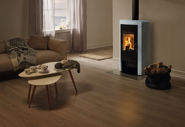 Rika Nex 8kw Wood Burning Stove With Rikatronic 4 - White Stone
