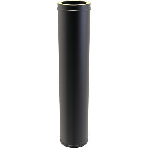 7 Inch Convesa KC 1000mm Straight Length Insulated - Black