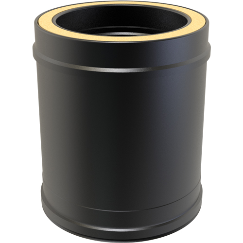 7 Inch Convesa KC 250mm Straight Length Insulated Pipe - Black