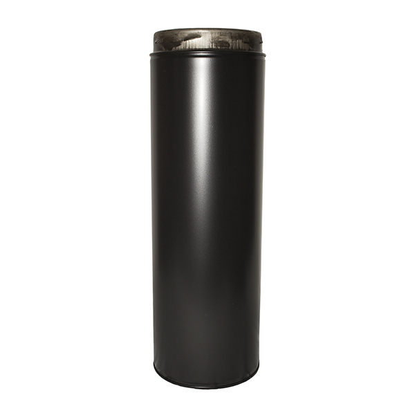 "6"" (150mm) 1000mm Pipe Inc Locking Band Sflue Black"