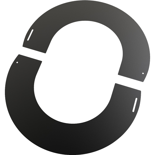6 Inch Convesa KC 90 Degree Round Finishing Plate - Black
