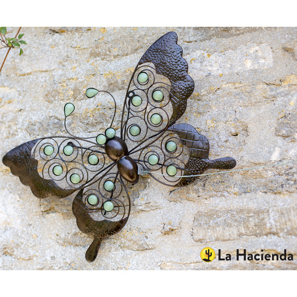 La Hacienda Steel Wire Butterfly Wall Art