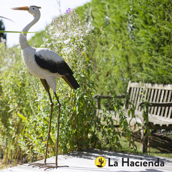 La Hacienda Steel Realistic Animal - Tall Heron