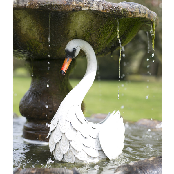 La Hacienda Steel Realistic Animal - White Swan
