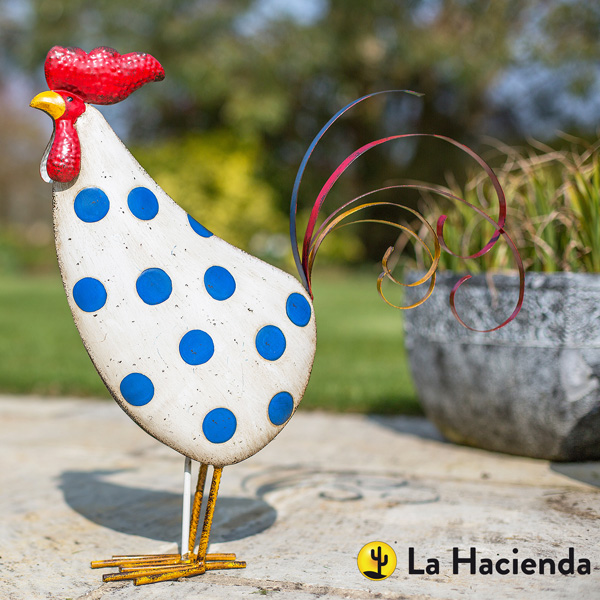 La Hacienda Steel Patterned Animal - Spotty Rooster