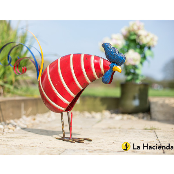 La Hacienda Steel Patterned Animal - Stripy Rooster