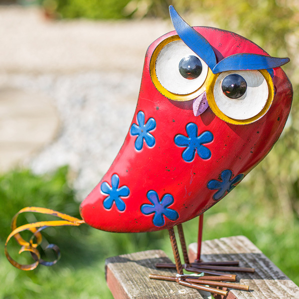 La Hacienda Steel Patterned Animal - Flowery Owl