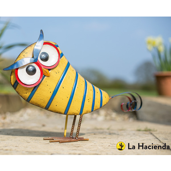 La Hacienda Steel Patterned Animal - Stripy Owl