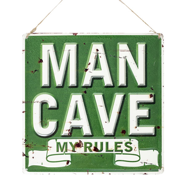 La Hacienda Embossed Steel Sign - Man Cave My Rules