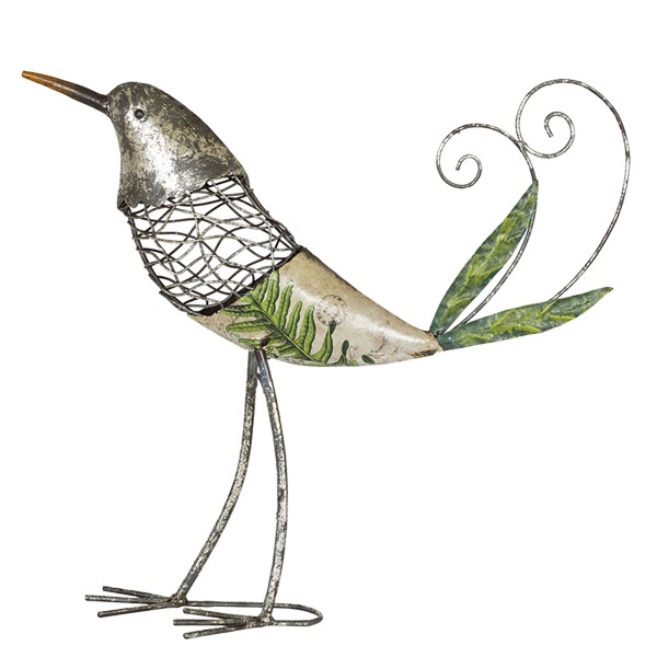 La Hacienda Metal Decoupage Bird - Cantrelle