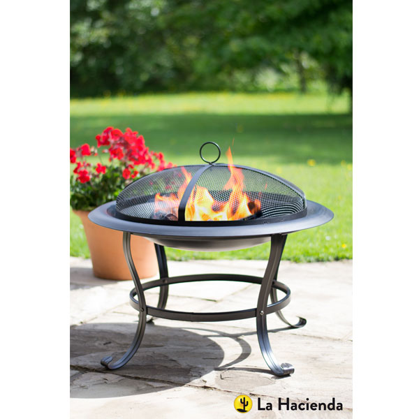 La Hacienda Boston Steel Firebowl - Black