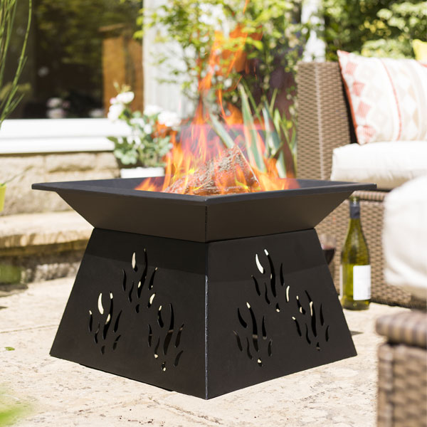 La Hacienda Paro Steel Fire Pit - Black