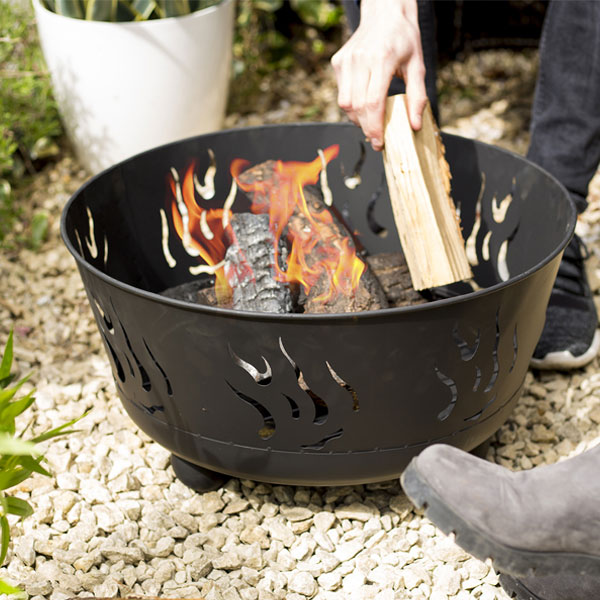 La Hacienda Dabko Steel Fire Pit - Black