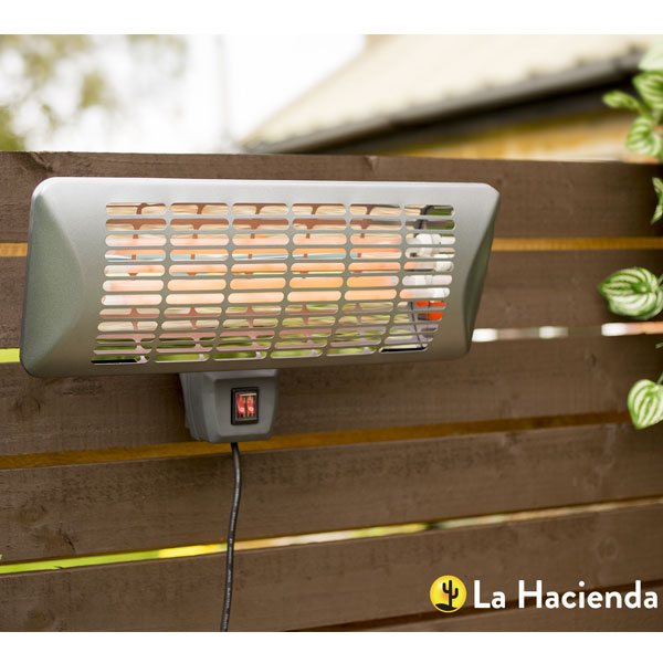 La Hacienda Grey Series Wall Mounted Heater 2000W - Quartz Element