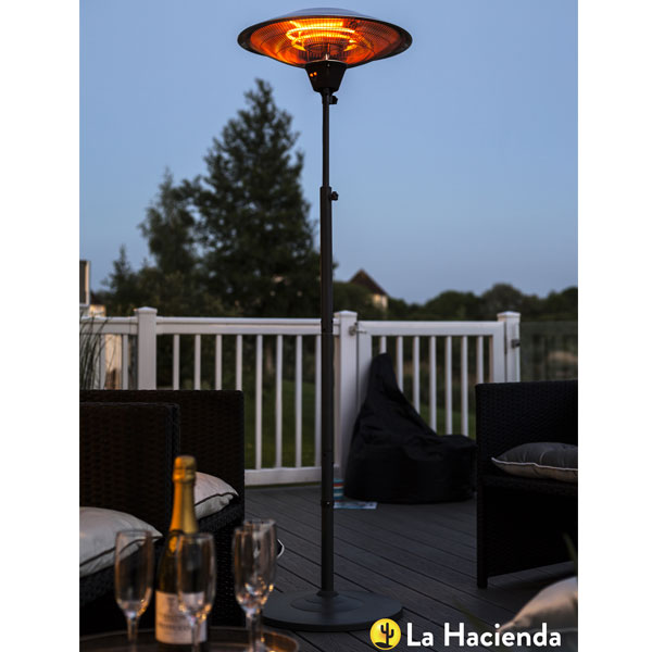 La Hacienda Grey Series Standing Heater 2100W - Carbon Fibre Element