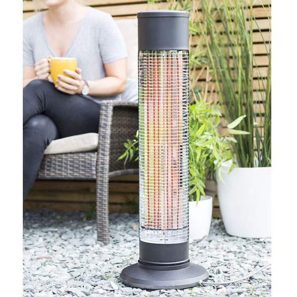 La Hacienda Black Series Revolving Heater 900W - Carbon Fibre Element