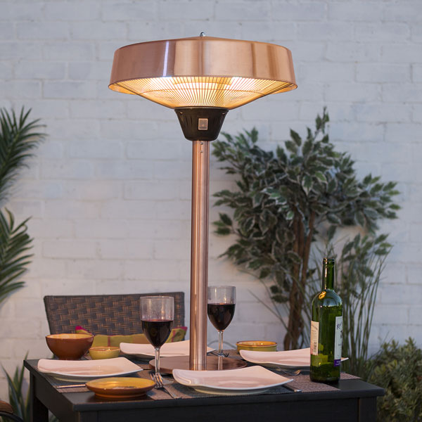 La Hacienda Copper Series Tabletop Heater 2100W - Halogen Element