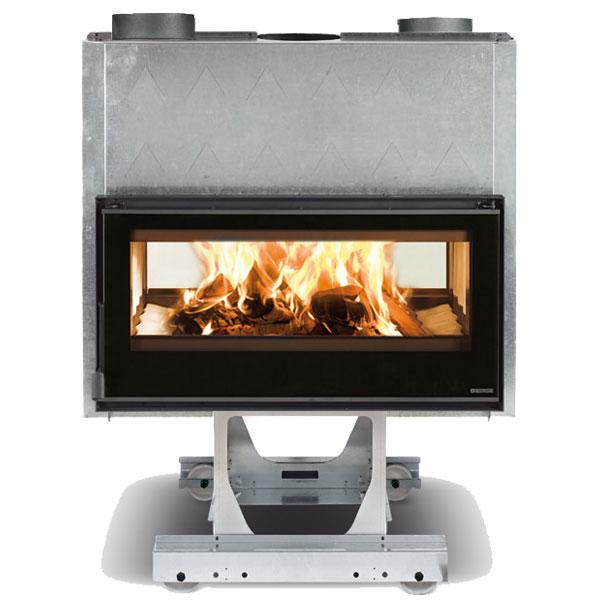 La Nordica Focolare 100 Bifacciale 11kw Inset Wood Burner