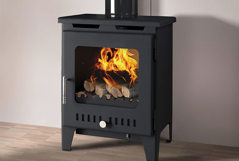Rofer & Rodi Alora 5kw Multifuel Wood Burning Stove - Black