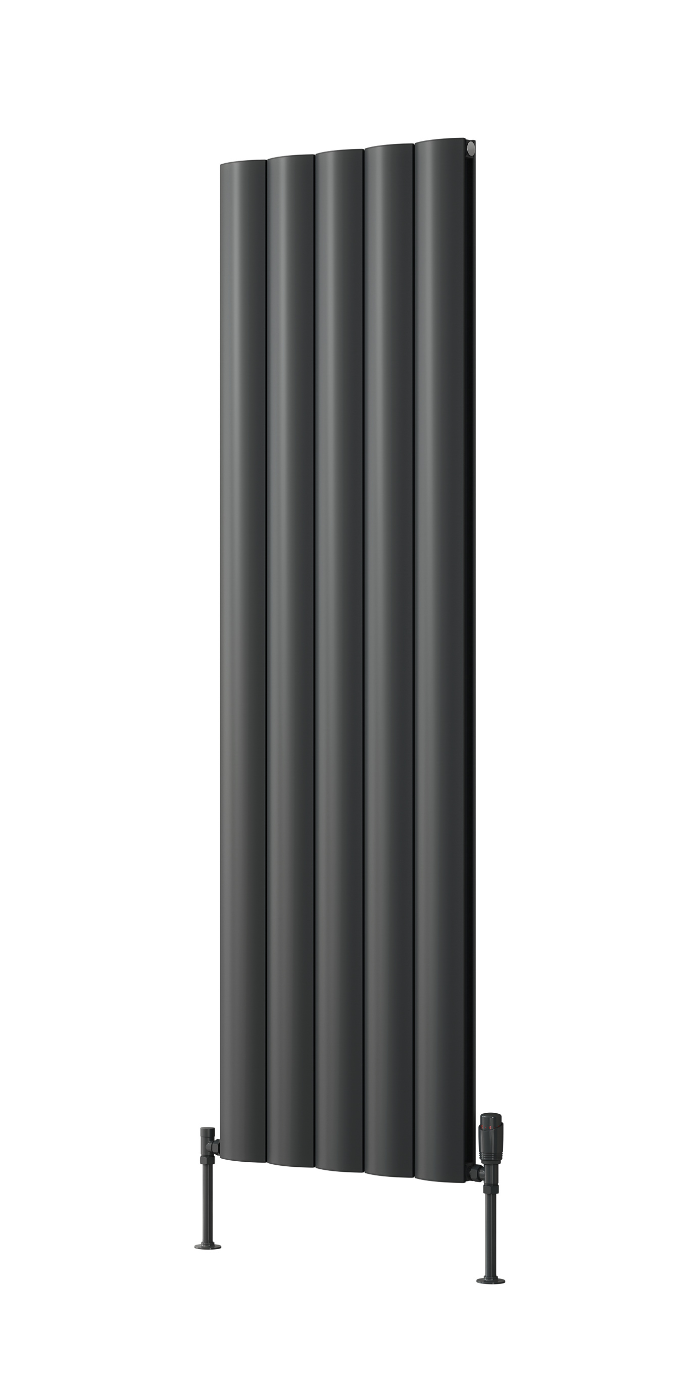 Reina Belva Double Vertical 1800 x 308 Designer Aluminium Contemporary Panelled Radiator