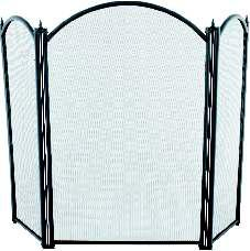 Fire Screen, 3 Fold Wings Black