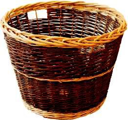 Log Basket, Round Rustic