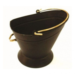Inglenook Black Waterloo Bucket With Brass Handles