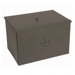 Inglenook Fleur De Lys Black Large Coal Box