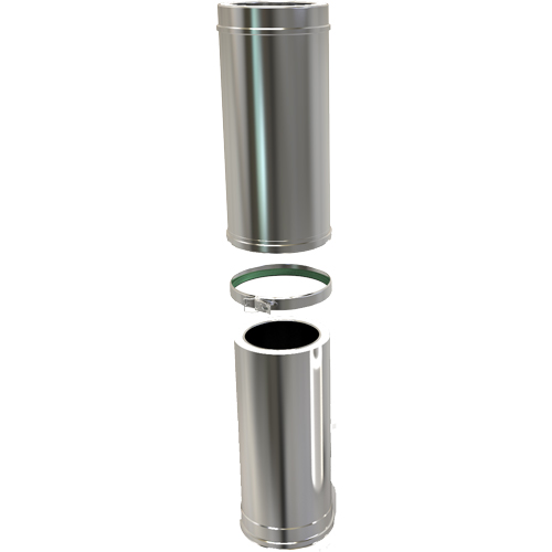 8 Inch Convesa KC 500-880mm Adjustable Length Insulated Pipe