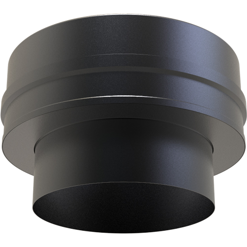 5 Inch Convesa KC Flat Adaptor Single Wall-Twin Wall Pipe Black