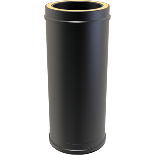 7 Inch Convesa KC 500mm Straight Length Insulated Pipe - Black