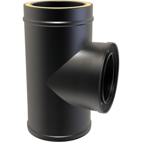 7 Inch Convesa KC 90 Degree Tee Piece - Black