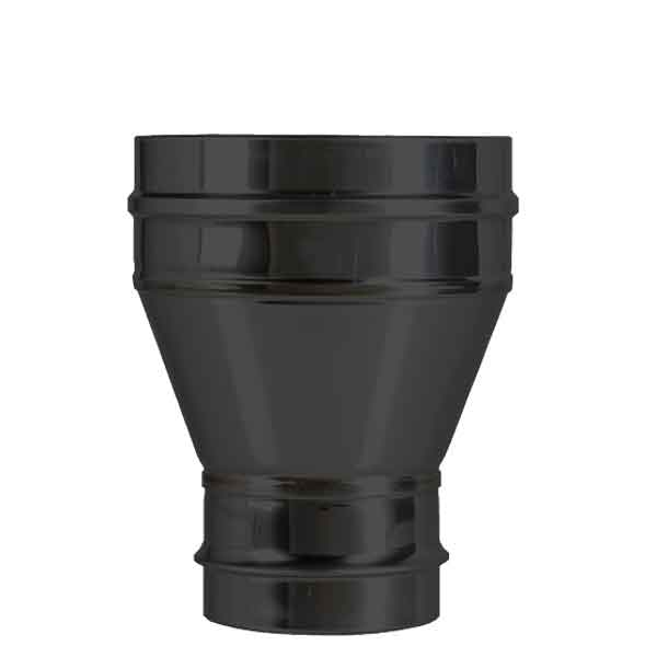 6-7 Inch Convesa KC Increasing Adaptor Single-Twin Flue - Black