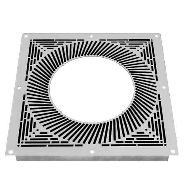 7 Inch Convesa KC Ventilated Firestop Plate - White