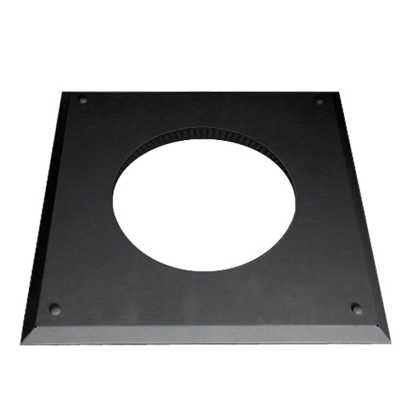 7 Inch Convesa KC Firestop Cover Plate - Black