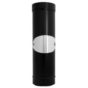 "Vitreous Enamelled Flue Pipe with door 4"" (various lengths)"