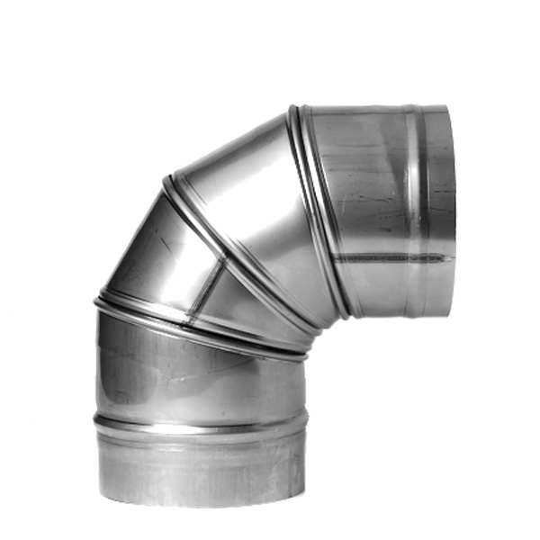 "5"" (125mm) 0-90° Adjustable Elbow Stainless Single Wall"