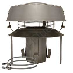 Pot Hanger Anti Downdraught with rain cap mesh Stainless