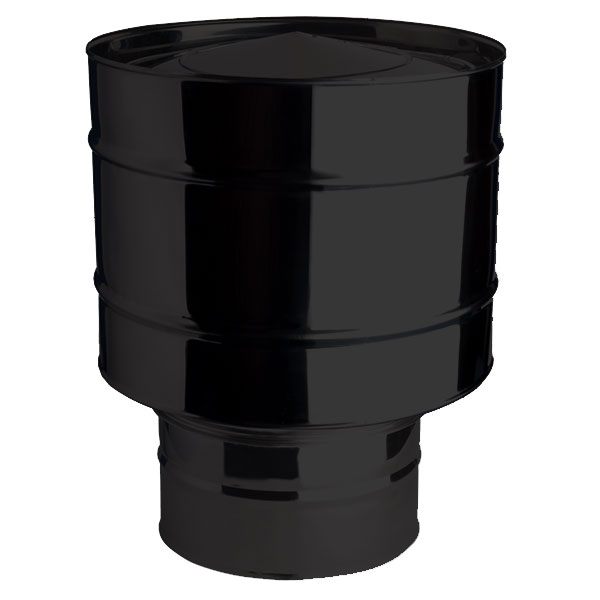 "Anti-Wind Cowl Black For Vitreous Flue Pipe 6"" (150mm)"