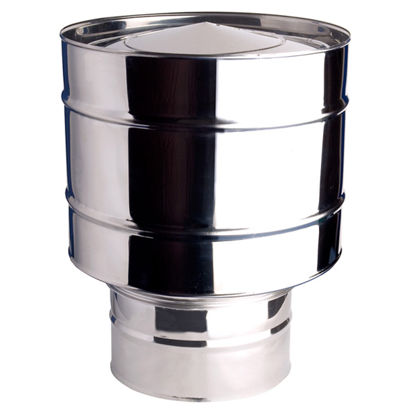 "Anti-Wind Cowl Stainless Steel For Vitreous Flue Pipe 6"" (150mm)"
