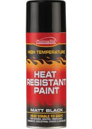 Economy Matt Black Heat Resistant Spray Paint - 400ml
