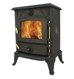 Cast Iron Wood Burning 5kw Multifuel Stove - Slowburn Z2