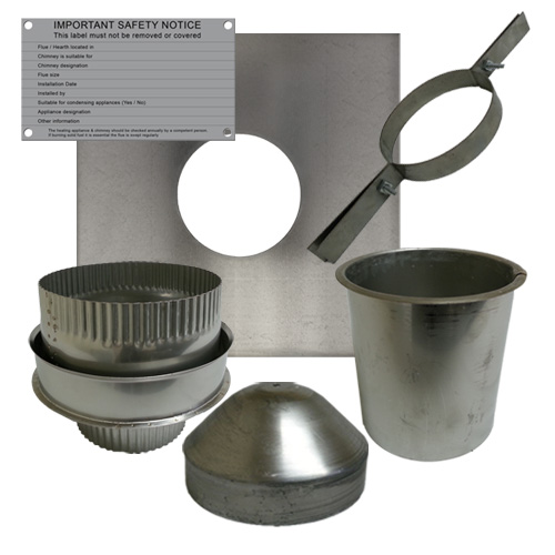 Flexible Chimney Flue Liner Fitting Kit Four