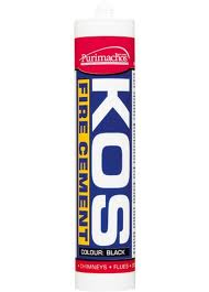 Kos Fire Cement Cartridge - 300ml, Black or Buff
