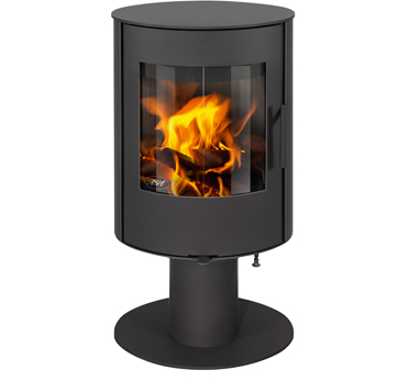 Aga Lawley 4.4kw Defra Approved Wood Burning Stove On Pedestal - Graphite