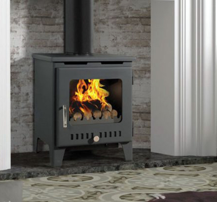 Rofer & Rodi Merida 8kw Multifuel Wood Burning Stove - Black