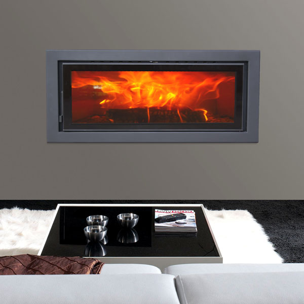 Panadero 101-S - 11kw Contemporary Wood Burning Inset Stove