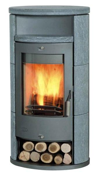 Contemporary Wood Stove - 8kw Home Wood Alicante Ceramic